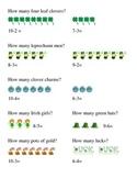 Saint Patrick's Day How Many Subtraction Kindergarten Math