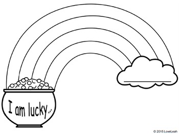 """Saint Patrick's Day """"I Am Lucky"""" Writing and Drawing Activity"""