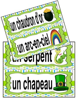 Saint Patricks Day-J'ai...Qui a-FRENCH Vocabulary Game-French Immersion/FSL!