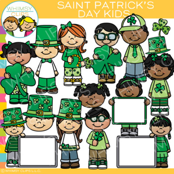 Kids saint patricks day clip art by whimsy clips tpt kids saint patricks day clip art voltagebd Gallery
