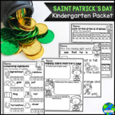 Saint Patrick's Day Kindergarten Packet Common Core Aligned