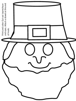Saint Patrick's Day Leprechaun Mask