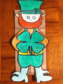 Saint Patrick's Day Leprechaun Puppet