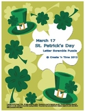 Saint Patricks Day Letter Scramble Puzzle Packet and Center