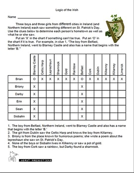 Saint Patrick's Day Logic Puzzles