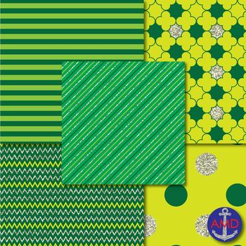 Saint Patrick's Day Lucky Leo's Digital Paper Mega Pack