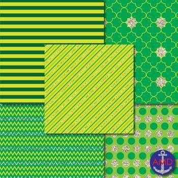 Saint Patrick's Day Lucky Leo's Digital Paper Mega Pack