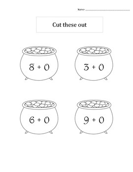 Saint Patricks Day Math: Adding Zero flipable