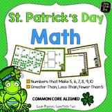 Saint Patrick's Day - Addition - Subitizing - Math Fact sorts