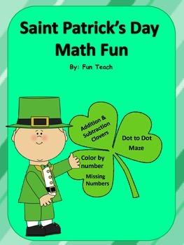 Saint Patrick's Day Math Fun Activities