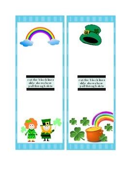 Saint Patrick's Day Math Three's Four's Smart Chute Addition Slide Printable