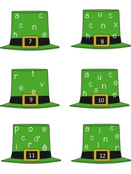 French St. Patrick's Day Math & Literacy Centers (centres) La Saint-Patrick