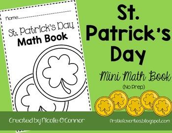 Saint Patrick's Day Mini Math Book (No Prep)