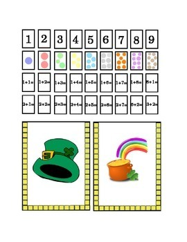 Saint Patrick's Day Number Recognition Kindergarten Addition Art Craft Printable