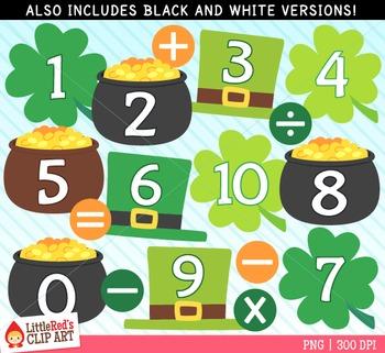 Saint Patrick's Day Number Clip Art