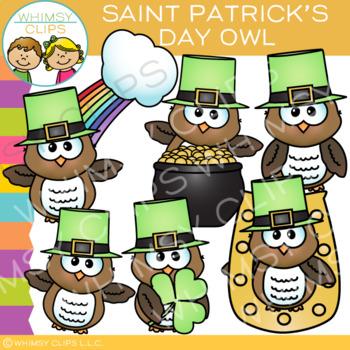 Saint Patrick's Day Owls Clip Art