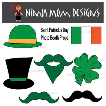 Saint Patricks Day Photo Booth Props