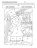 Saint Patrick's Day Place Value Coloring Page