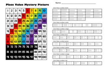 Saint Patrick's Day Place Value Math Mystery Picture Bundle - 11x17