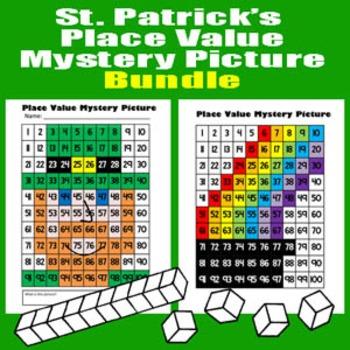 Saint Patrick's Day Place Value Math Mystery Picture Bundl