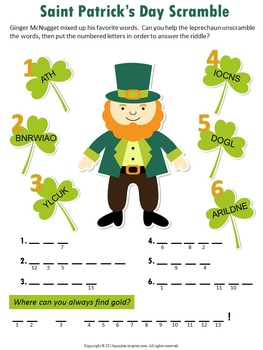 Saint Patrick's Day Vocabulary Puzzles