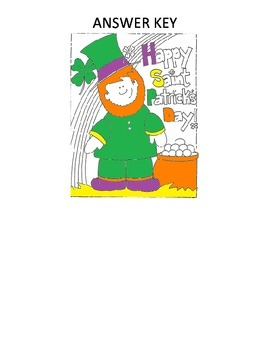 Saint Patrick's Day Quadrilaterals Coloring Page
