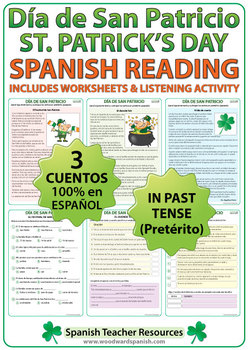 Saint Patrick's Day Reading Passages in Spanish - Día de San Patricio