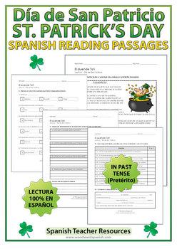 Saint Patrick's Day Reading Passages in Spanish - Día de San Patricio