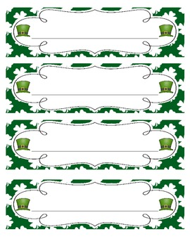 Saint Patrick's Day Seasonal Desk Nameplates