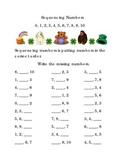 Saint Patrick's Day Sequencing Numbers 0  to 10 Kindergarten Math