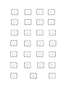 Saint Patrick's Day Set 1 Cut and Paste Numbers 1 to 27 Kindergarten Sequencing