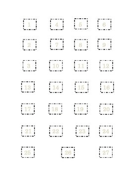 Saint Patrick's Day Set 8 Cut and Paste Numbers 1 to 27 Kindergarten Sequencing