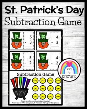 Saint Patrick's Day Subtraction Game FREEBIE!