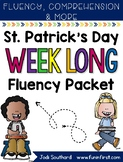 Saint Patrick's Day Week Long Fluency Packet - Week 2 of March Packet