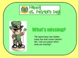 "Saint Patrick's Day ""What's Missing?"" Flipchart"