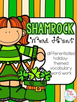 Saint Patrick's Day Word Hunt / Holiday Vocabulary Word Wo