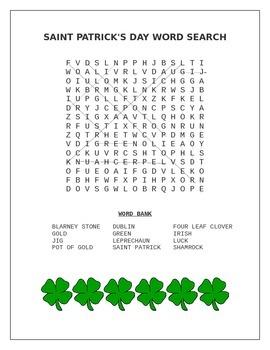 Saint Patrick's Day Word Search