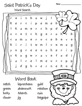 photo regarding St Patrick's Day Word Search Printable referred to as Saint Patricks Working day Phrase Appear