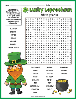 Saint Patrick's Day Word Search