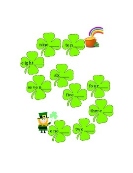 Saint Patrick's Day Write Numbers 1 -10 Leprechaun to Pot