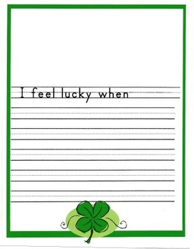 Saint Patrick's Day Writing Fun