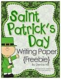 Saint Patrick's Day Writing Paper {Freebie}