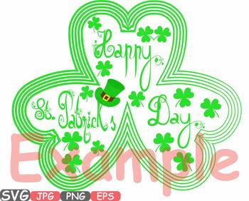 Saint Patricks Day clipart Irish four leaf clover St Patrick's Leprechaun -625s