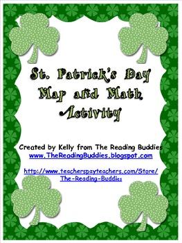 Saint Patrick's Day map and math activity