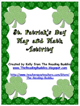 Saint Patrick's Day map and math activity