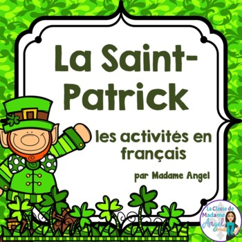 Saint Patrick's Day Literacy Activities in French!  Le jou
