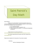 Saint Patrick's Math For Kindergarten