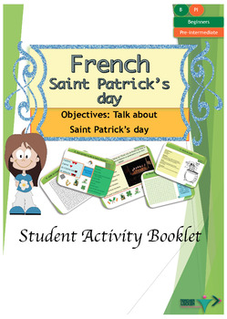 Saint Patrick's day for beginners French booklet