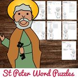 Saint Peter Word Puzzles No Prep Catholic Activities