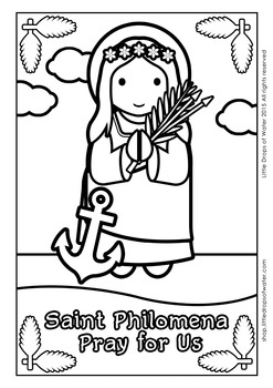 Saint Philomena Coloring - Catholic